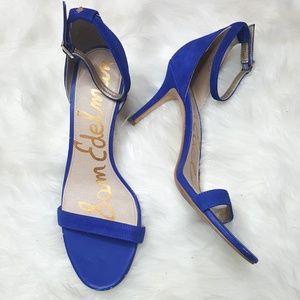 Sam Edelman Patti Suede Blue Strappy Heel Sandals